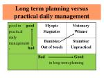 long term planning versus practical daily management2