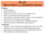 plan treatment cq admission room