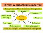 threats opportunities analysis