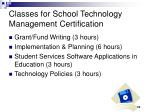 classes for school technology management certification1