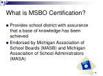 what is msbo certification1