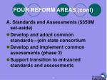 four reform areas cont