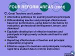 four reform areas cont2
