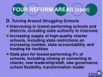 four reform areas cont3