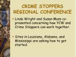 crime stoppers regional conference