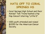 hats off to coral springs hs