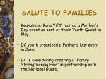 salute to families