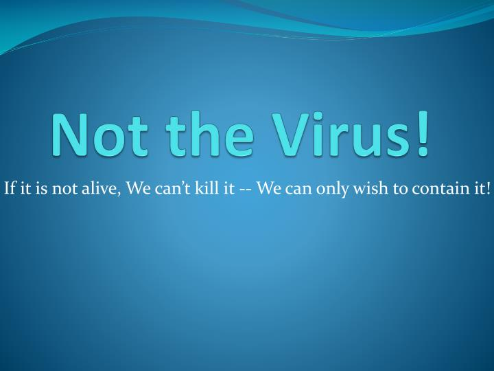not the virus n.