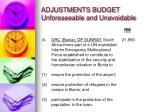 adjustments budget unforeseeable and unavoidable2