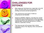 challenges for defence1