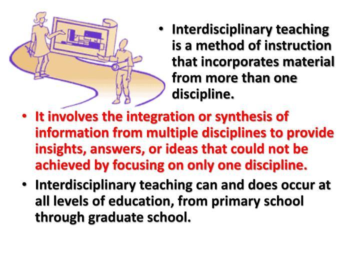 Ppt Interdisciplinarity And Curriculum Design In Biological