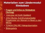 materialien zum l ndermodul simbabwe