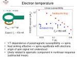 electron temperature