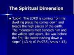 the spiritual dimension