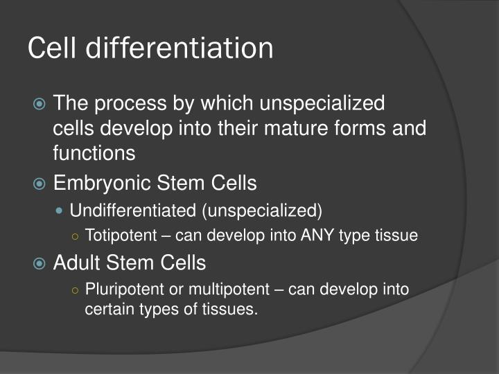 Cell differentiation