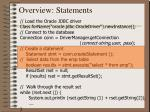 overview statements