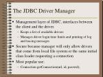 the jdbc driver manager