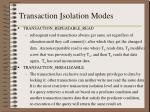 transaction i solation modes