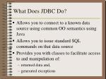 what does jdbc do