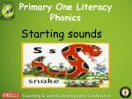 primary one literacy phonics