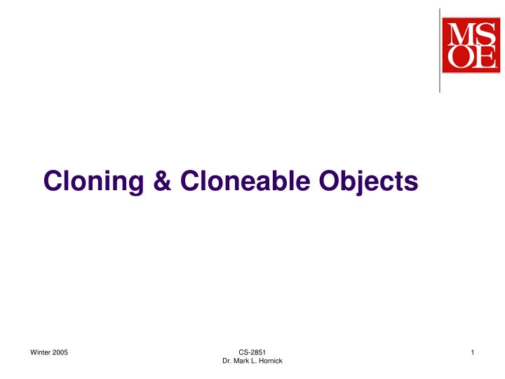 cloning cloneable objects n.