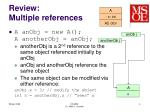 review multiple references