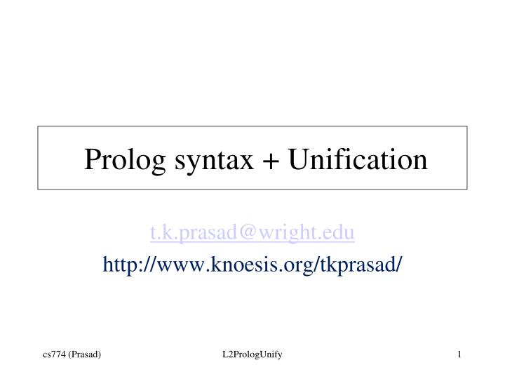 prolog syntax unification n.