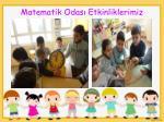 matematik odas etkinliklerimiz