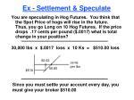 ex settlement speculate