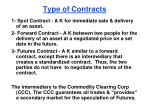 type of contracts