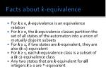 facts about k equivalence