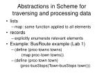 abstractions in scheme for traversing and processing data