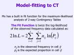model fitting to ct