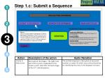 step 1 c submit a sequence
