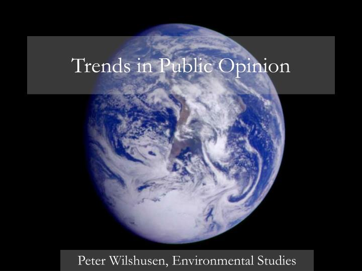 trends in public opinion n.
