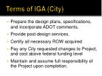terms of iga city