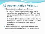 ag authentication relay cont