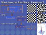 what does the biot savart law mean