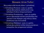 menurut alvin tofler