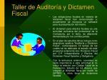 taller de auditor a y dictamen fiscal