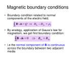 magnetic boundary conditions1