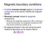 magnetic boundary conditions3
