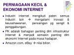 perniagaan kecil ekonomi internet