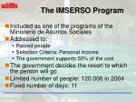 the imserso program