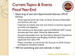 current topics events fiscal year end