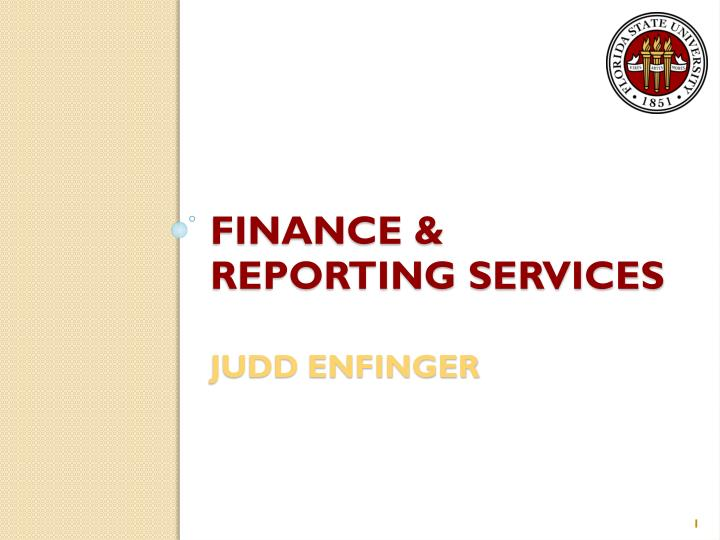 finance reporting services judd enfinger n.