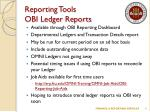 reporting tools obi ledger reports