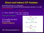 direct and indirect cp violation