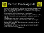 second grade agenda
