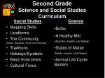 second grade science and social studies curriculum